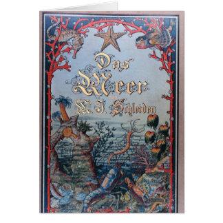 Vintage nautical steampunk victorian book cover card