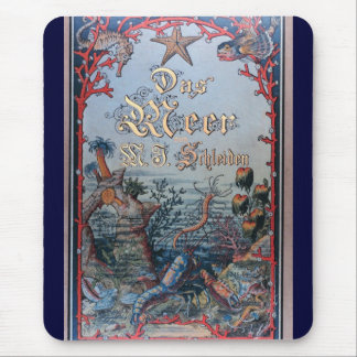 Vintage nautical steampunk victorian book cover mouse pads
