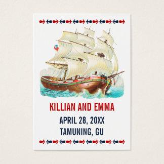 Vintage Nautical Wedding Place Cards