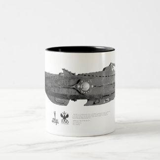 Vintage_Nautilus_01 Two-Tone Coffee Mug
