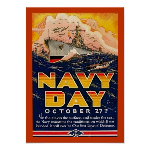 Vintage Navy Day Poster