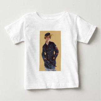 Vintage Navy Girl Howard Chandler Christy Baby T-Shirt