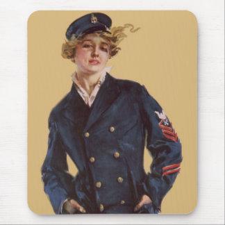 Vintage Navy Girl Howard Chandler Christy Mouse Pad