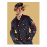 Vintage Navy Girl Howard Chandler Christy Postcards