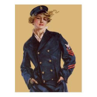 Vintage Navy Girl Howard Chandler Christy Postcard