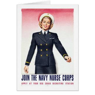 Vintage Navy Nurse Corps World War 2 Enlistment Card