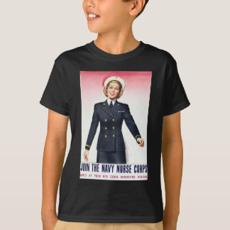Vintage Navy Nurse Corps World War 2 Enlistment T-Shirt