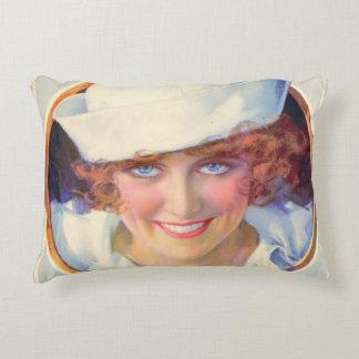 Vintage Navy Pinup Girl Decorative Pillow