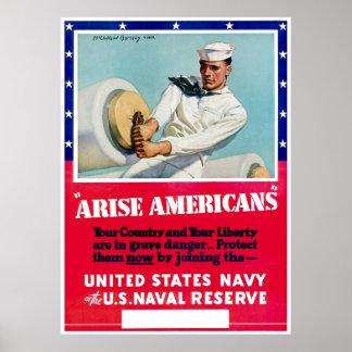 Vintage Navy Reserve Enlistment Posters