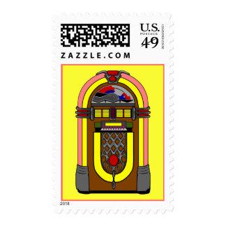 Vintage Neat-o Jukebox Retro Party Stamp