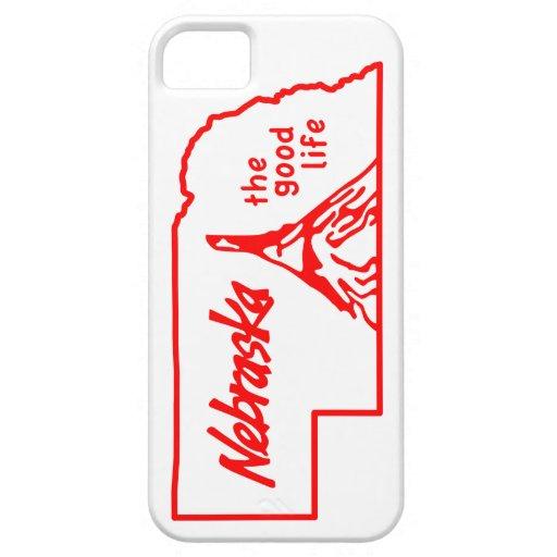 """Vintage Nebraska caso del iPhone """"de la buena vida iPhone 5 Case-Mate Cárcasa"""