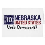 Vintage Nebraska de Demócrata del voto en 2010 - Felicitación