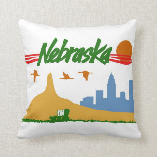 Vintage Nebraska Pillow