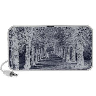 Vintage negativo de los árboles de Inglaterra de l iPod Altavoz