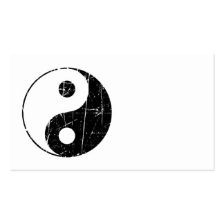 Vintage negro rasguñado Yin Yang Tarjetas De Visita
