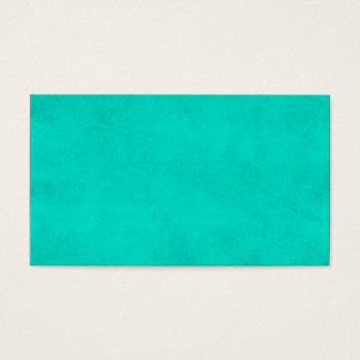 Vintage Neon Aqua Blue Parchment Template Business Card