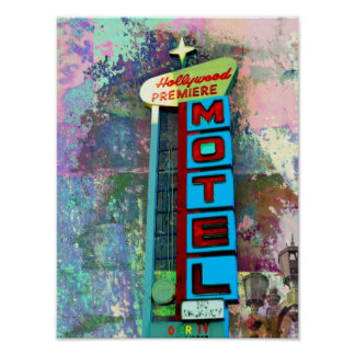 Vintage Neon Sign Art Posters