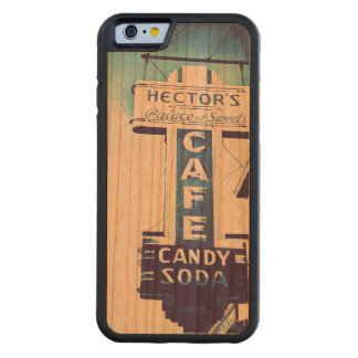 "Vintage Neon Sign ""Cafe"" Carved® Cherry iPhone 6 Bumper Case"