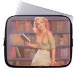Vintage Nerdie Pin Up Girl Laptop Sleeve