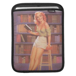 Vintage Nerdie Pin Up Girl Sleeve For iPads