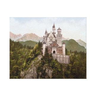 """Vintage Neuschwanstein Bayern 20"""" x 16"""" Canvas Print"""