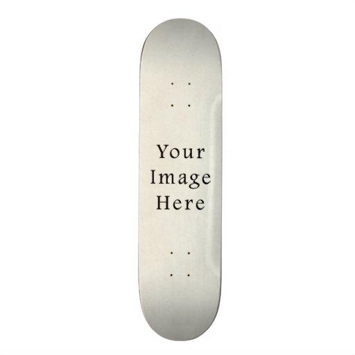 Vintage Neutral Ivory White Parchment Paper Skate Deck