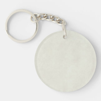 Vintage Neutral Light Parchment Antique Paper Single-Sided Round Acrylic Keychain