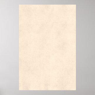 Vintage Neutral Parchment Beige Antique Paper Temp Poster