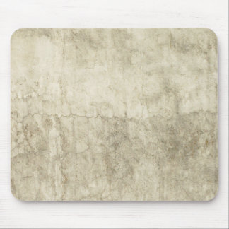 Vintage Neutral Plaster Paint Background Grunge Mouse Pad