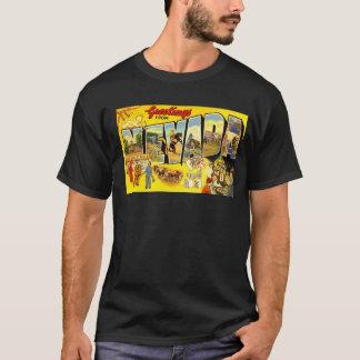 Vintage Nevada Postcard Gambling Poker Party Cards T-Shirt