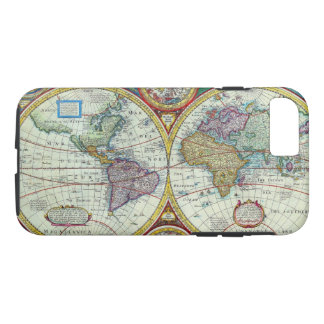 Vintage New and Accurate World Map Circa 1626 iPhone 8/7 Case