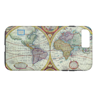 Vintage New and Accurate World Map Circa 1626 iPhone 8 Plus/7 Plus Case