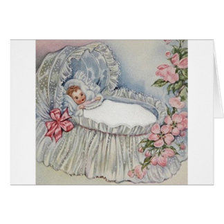 Vintage New Baby or Christening Greeting Card