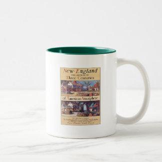 Vintage New England Two-Tone Coffee Mug