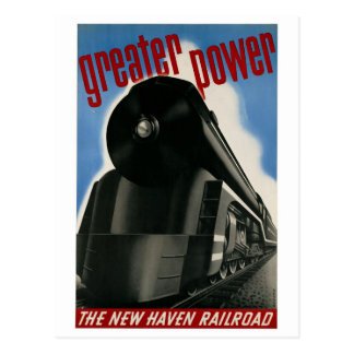 Vintage New Haven Railroad locomotive travel Postcard