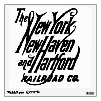 Vintage New Haven Railroad Logo Wall Sticker