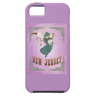 Vintage New Jersey State Map- Grape Purple iPhone 5 Cover