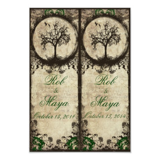 Vintage New Life Bookmarks Wedding Favor Card