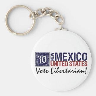 Vintage New México del libertario del voto en 2010 Llaveros