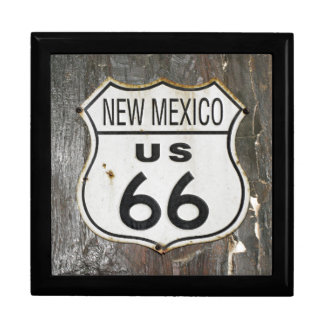 Vintage New Mexico Route 66 Sign. Jewelry Box