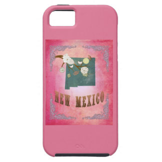 Vintage New Mexico State Map- Candy Pink iPhone 5 Cover