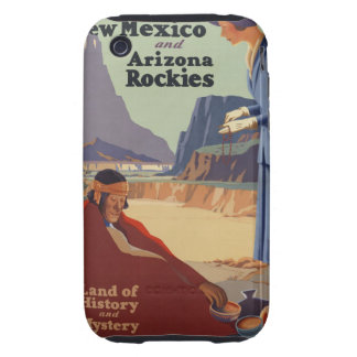 Vintage New Mexico Travel Poster Tough iPhone 3 Cases