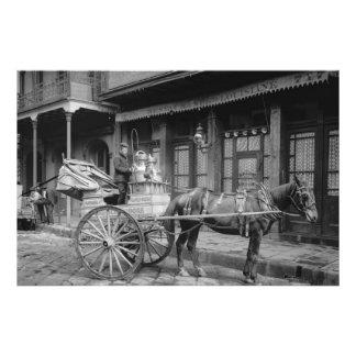 Vintage New Orleans Milk Delivery Photo Print