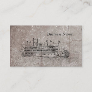 New orleans business cards templates zazzle vintage new orleans stern wheeler business cards reheart Gallery