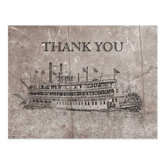 Vintage New Orleans Stern Wheeler Thank You Card