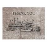 Vintage New Orleans Stern Wheeler Thank You Card Postcards