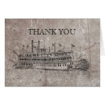 Vintage New Orleans Stern Wheeler Thank You Note Card