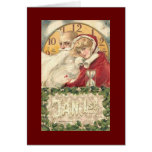 Vintage New Year Greeting Card