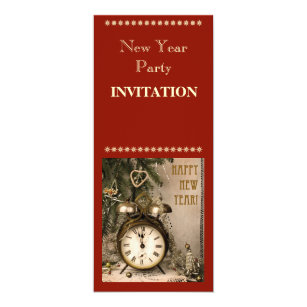 vintage new year invitation