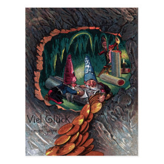 "Vintage New Year map of ""dwarves "" Postcard"